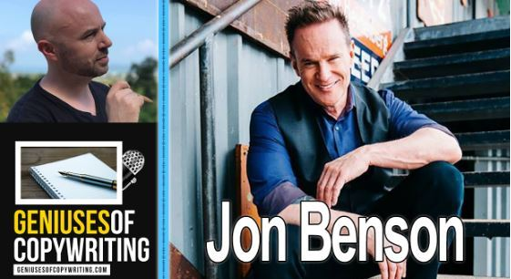 Geniuses of copywriting podcast with Jon Benson